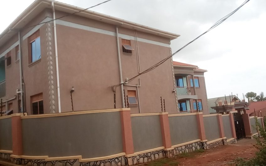 Brand  new two self contained bed room apartment at 700000 a month in Kirinya, Namataba.